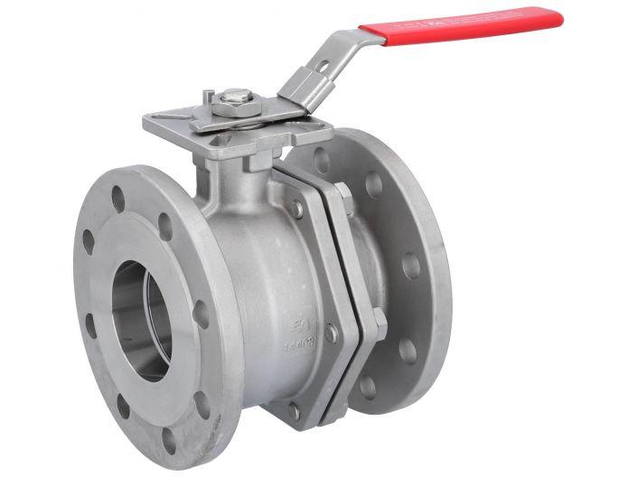 Kugelhahn DN80, PN16, Baulänge EN558-27, Edelstahl 1.4408, PTFE-FKM, ISO5211