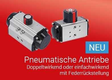Neue pneumatische Schwenkantriebe