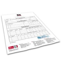 Abnahmeprüfzeugnis DIN EN 10204-3.1 in Abschrift, Versand erfolgt sep. mit der Rechnung