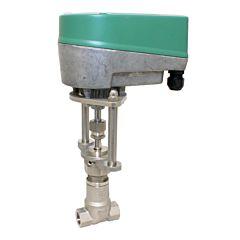 "Motorregel-Nadelventil, G1/2"", 24VAC/DC, Edel./Metall-PTFE, Q=300-1300l/h, bei delta p 1bar"