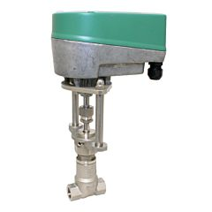 "Motorregel-Nadelventil, G1/2"", 24VAC/DC, Edel./Metall-PTFE, Q=600-1600l/h, bei delta p 1bar"