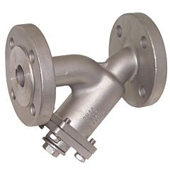 Schmutzfänger DN40 Flansch, PN16, Ed 1.4408, Sieb 1.4301, Einfachsieb 0.6mm, Baulänge EN558-1