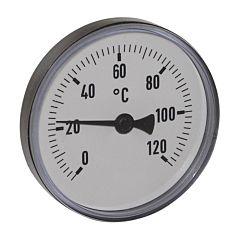 """Thermometer, Kunststoff, Ø63mm, Schaftlänge: 40mm, 1/2""""-axial, Anzeigebereich: 0 bis 120°C"""