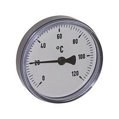 """Thermometer, Kunststoff, Ø80mm, Schaftlänge:63mm, 1/2""""-axial, Anzeigebereich: 0 bis 120°C"""