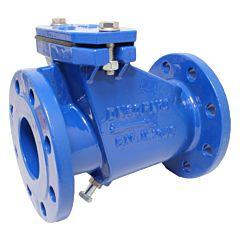 Abwasser-Rückschlagklappe DN100, PN10, GG-25/EKB/EPDM, mit Anlüftevorrichtung