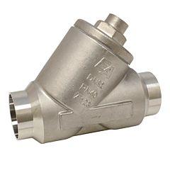 Rückschlagventil DN40, PN40, Edelstahl 1.4408/PTFE, Anschweißenden DIN3239