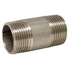 "Rohrdoppelnippel 1/2"" (DIN2999) x 140mm, Edelstahl 1.4408"