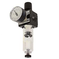 """Filterdruckregler 1/4"""", 0.5-10bar, Zink-Druckguß/Kunststoff"""