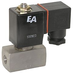 "3/2-Magnetventil, G1/4"", DN2, 24VAC, NO, Edel./FKM, AC=0-8bar, direktgesteuert"