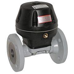 Membranventil pneumatisch betätigt, DN40-FL, GG-25/EPDM, Flanschausführung