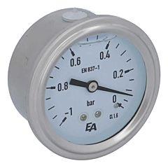 Manometer, d63, -1-0bar, axial, mit Glyzerinfüllung