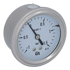 Manometer, d63, -1-+1.5bar, axial, mit Glyzerinfüllung
