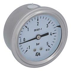 Manometer, d63, -1-+5bar, axial, mit Glyzerinfüllung