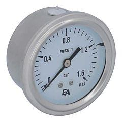 Manometer, d63, 0-1.6bar, axial, mit Glyzerinfüllung