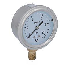 Manometer, d63, 0-10bar, radial, mit Glyzerinfüllung