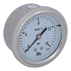 Manometer, d63, 0-16bar, axial, mit Glyzerinfüllung