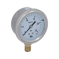 Manometer, d63, 0-25bar, radial, mit Glyzerinfüllung