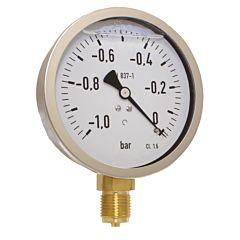 Manometer, d100, -1 bis 0bar, radial, mit Glyzerinfüllung