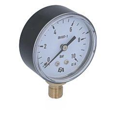 """Manometer 63rd, 0-10bar, Kunststoff, Anschluß: 1/4"""" radial"""