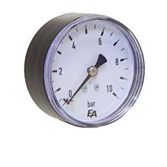 "Manometer 63rd, 0-10bar, Kunststoff, Anschluß: 1/4"" axial"