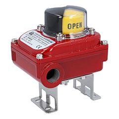 2 Endschalter elektrisch/mech., max.250V, IP67,, im Alu-Gehäuse, M20x1.5, opt. Stellungsanzeige