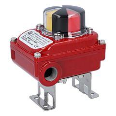 2 Endschalter el./mech., max.250V, IP67, M20x1.5,, Alu-Gehäuse, opt. Stellungsanzeige für L-Bohrung