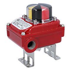 2 Endschalter el./mech., max.250V, IP67, M20x1.5,, Alu-Gehäuse, opt. Stellungsanzeige für T-Bohrung