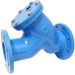 Schmutzfänger DN50, PN16, Maschenweite 1mm, GGG-50-Epoxy-beschichtet, Sieb: Edelstahl 1.4301