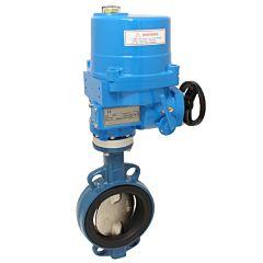 Absperrklappe-TA, DN100, mit Antrieb NE06, GGG/Stahl-verzinkt/NBR, 230V 50Hz, Laufzeit 17sek.