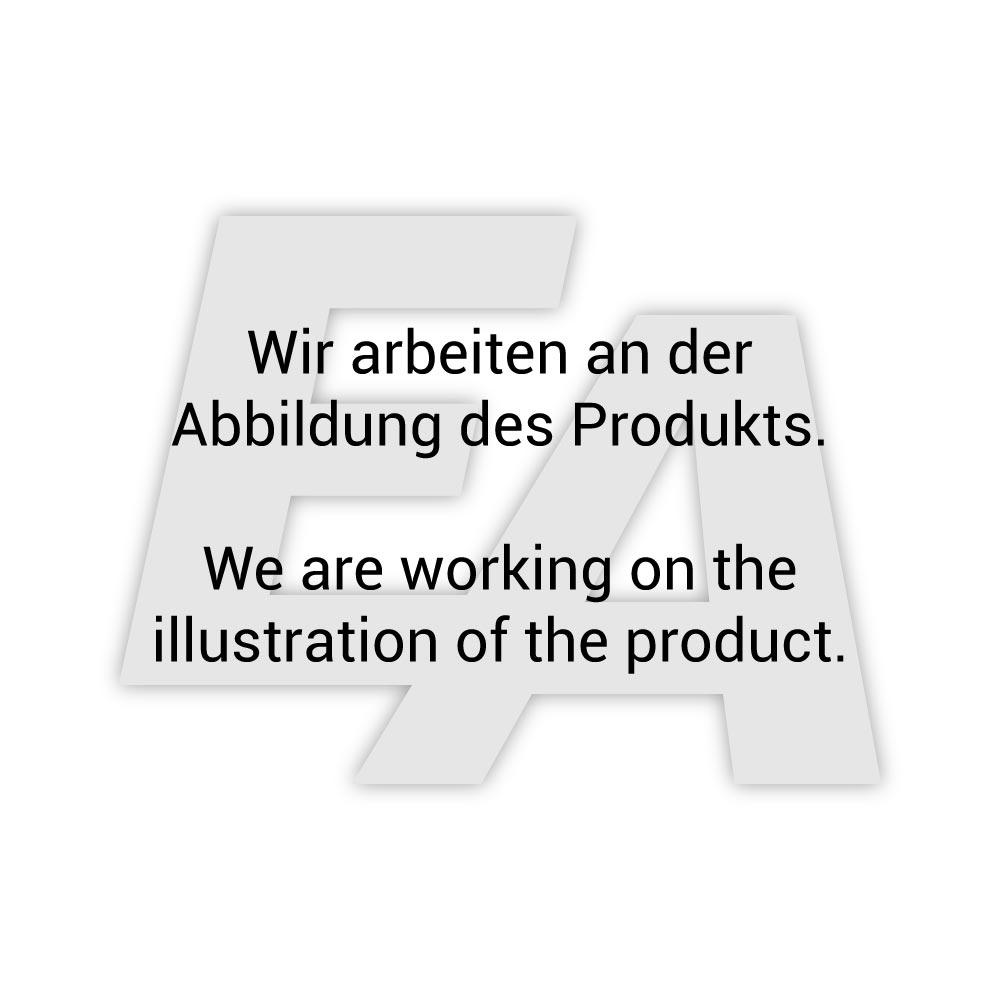 Absperrklappe-TA, DN50, mit Antrieb-ED, DW55, Aluminium/Edelstahl/FKM, doppeltwirkend