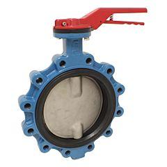 Absperrklappe LUG DN400,PN16,DVGW/G,Baul. EN558-20, GGG/NBR/Edelstahl, mit Getriebe und Handrad