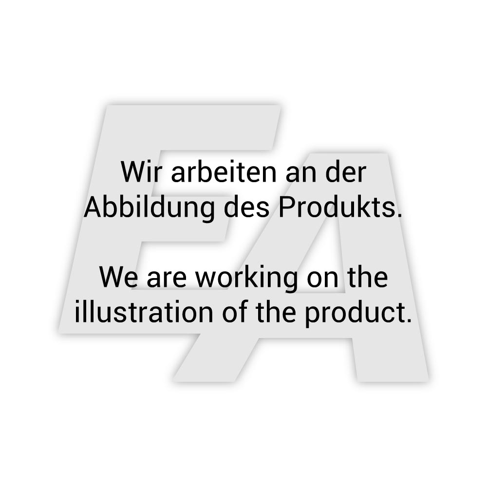 Absperrklappe-WA, DN50, mit Antrieb-ED, DW55, AX, GG/Edelstahl/NBR, doppeltwirkend