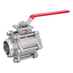 Kugelhahn DN65, PN64, 1.4408/PTFE-FKM, Anschweißenden, hohlraumarm, ISO 5211, DIN3202-S13