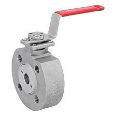 Kompakt-Kugelhahn DN15, PN16/40, Edelstahl 1.4408/PTFE-FKM, ISO5211